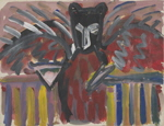 BALDEWEG Juan Navarro  untitled, 1982  acrylic / paper   50 x 70 cm     please click the image to enlarge