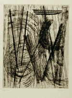 HARTUNG Hans  untitled  etching / handmade paper (62 / 250)  Plattengröße 41 x 32 cm     please click the image to enlarge