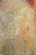 "KLAMPFL Barbara  ""Andacht"", 2009  oil, synthetic lacquer / canvas   230 x 150 cm     please click the image to enlarge"