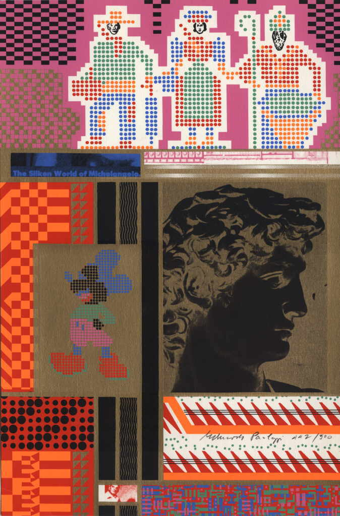 "Paolozzi Eduardo  ""The siliken World of Michelangelo"",  Siebdruck 38 x 25 cm"