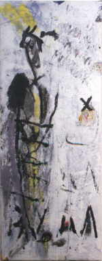 RENARD Emmanuelle  untitled, 1987  mixed media / canvas   115 x 48 cm     please click the image to enlarge