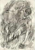 "WUKOUNIG Reimo  ""Pieta"", 1986  india ink / paper   29 x 21 cm     please click the image to enlarge"